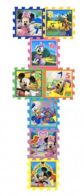 Covor Puzzle Din Spuma Sotron Minnie & Mickey Mouse 8 Piese foto
