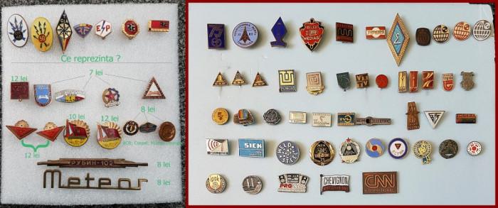Lot de insigne de colecţie foto mare