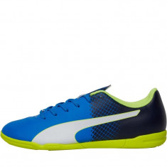 Adidasi Ghete Fotbal Sala Puma evoSPEED 5.5, Marime: 43, Culoare: Aqua