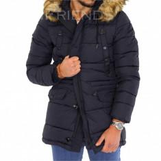 Geaca barbati iarna bleumarin - geaca groasa - COLECTIE NOUA 9352, S, XXL, Din imagine