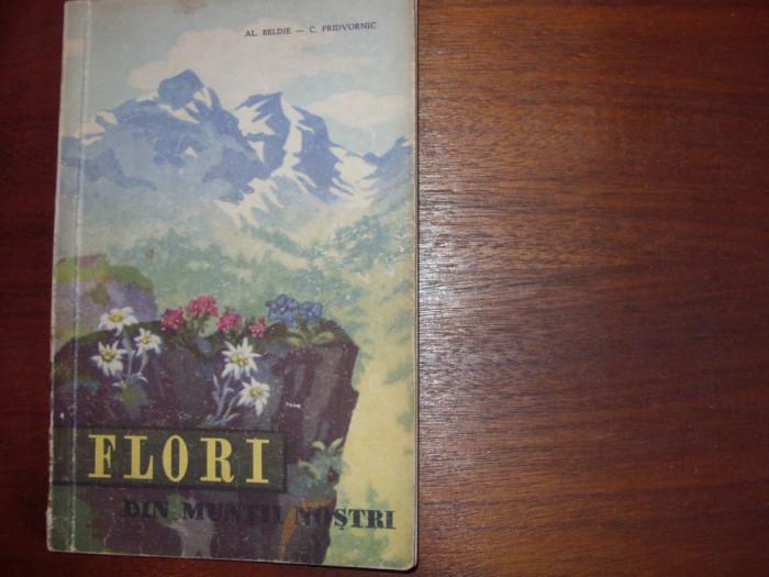 AL.  BELDIE  -  FLORI  DIN MUNTII  NOSTRI  (1959, editia l, cu 24 planse color)* foto mare