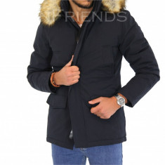 Geaca barbati iarna bleumarin - geaca groasa - COLECTIE NOUA 9355M3, Marime: S, Culoare: Din imagine