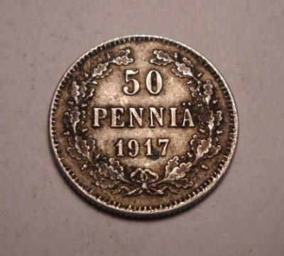 Finlanda 50 Pennia 1917 foto