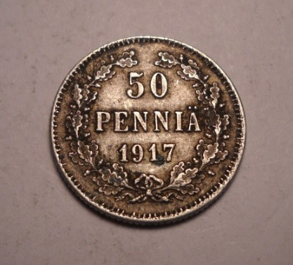 Finlanda 50 Pennia 1917 foto mare