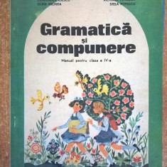 Gramatica si compunere Manual pentru clasa a IV-a {1990} - Manual scolar