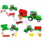 Tractor Cu Remorca Si Accesorii Globo Spidko - Masinuta electrica copii