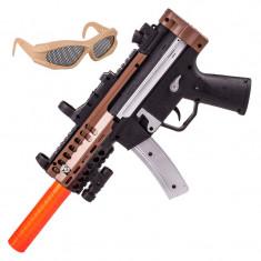 Set arma si ochelari lupta, 2 x AA, 3 ani+ - Arma Airsoft