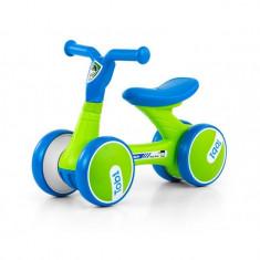 Bicicleta fara pedale Tobi Blue-Green - Bicicleta copii