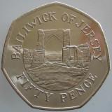 JERSEY KM#NEW - 50 Pence 2016 UNC, Europa