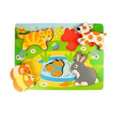 Puzzle Bigjigs - Animale de Companie