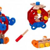 Joc Educativ De Construit Globo Legnoland Mechanik 37546 50 Piese Multicolore Cu Figurine Incluse