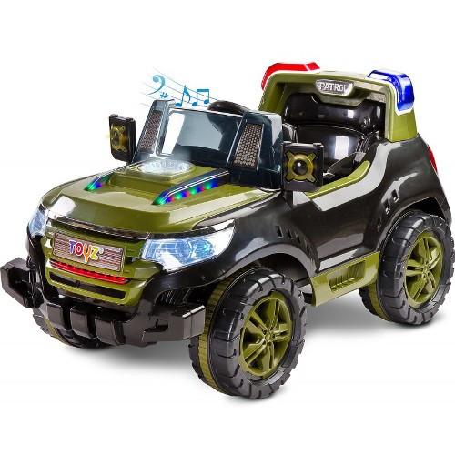 Vehicul Electric Patrol 2 x 6V cu Telecomanda Khaki foto mare