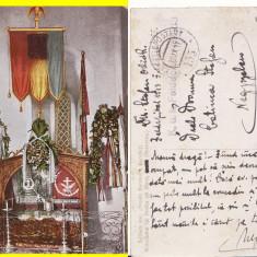 Manastirea Putna (Bucovina, Suceava)-Mormantul lui Stefan cel Mare-cenzura - Carte Postala Bucovina 1904-1918, Circulata, Printata