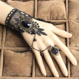 Set colier +bratara cu inel si dantela-model gotic victorian E