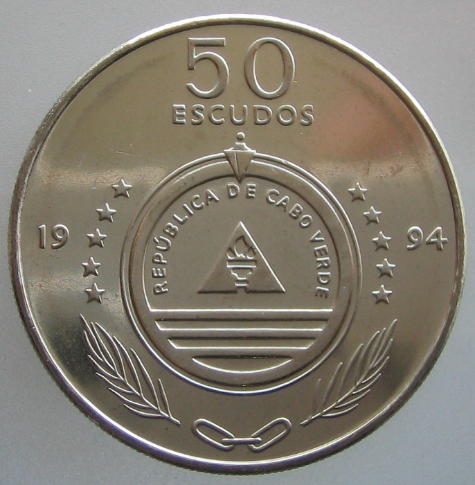 CAPUL VERDE KM#44 - 50 Escudos 1994 UNC foto mare