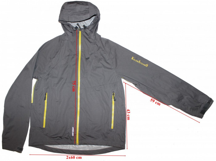 Geaca de ploaie Kilimanjaro, Light Weight, membrana Dintex, barbati, marimea XL foto mare