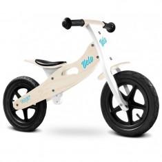 Bicicleta de lemn fara pedale Toyz Velo Alb