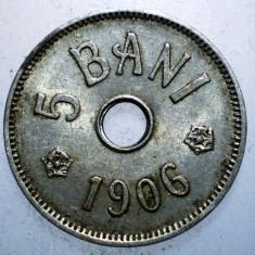 7.737 ROMANIA 5 BANI 1906 J - Moneda Romania, Cupru-Nichel