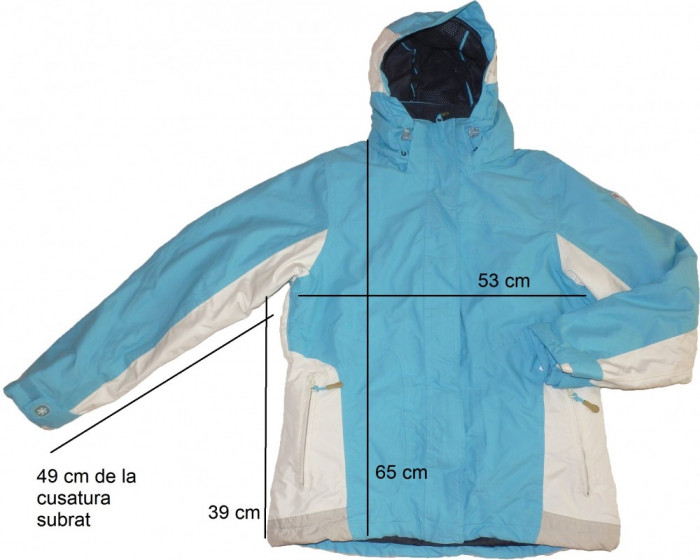 Geaca ski schi membrana ventilatii chip avalansa (dama M/L) cod-174205 foto mare
