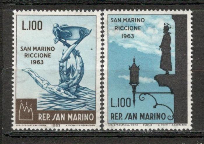San Marino. 1963 Expozitia filatelica RICCIONE  KS.182 foto mare