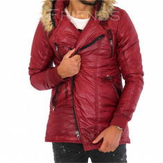 Geaca barbati iarna rosie - geaca barbati - geaca slim fit COLECTIE NOUA 9340M7, Marime: L, XL, Culoare: Din imagine