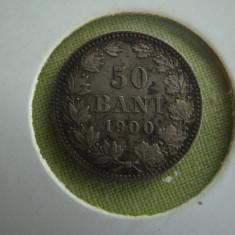 50 bani 1900 - VF - aUNC - Moneda Romania, Argint