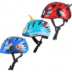 MV7 Casca ciclism pentru copii albastru-rosu S - Echipament Ciclism, Casti bicicleta