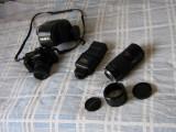 Minolta 5000AF cu teleobeictiv Minolta AF70-210mm, Konica Minolta