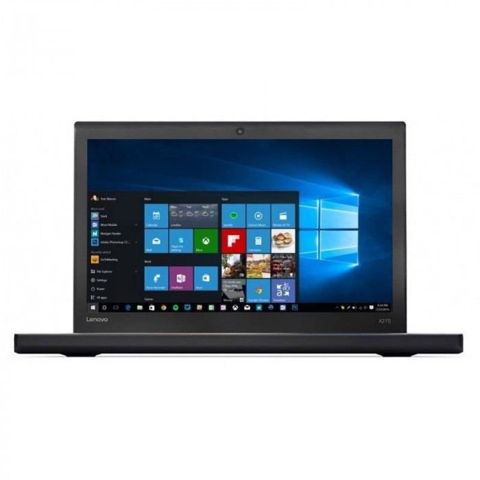 Laptop Lenovo ThinkPad X270 12.5 inch Full HD Intel Core i7-7500U 16GB DDR4 512GB SSD FPR Windows 10 Pro Black foto mare