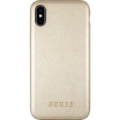 Husa Protectie Spate Guess GUHCPXIGLGO Iridescent Piele Auriu pentru APPLE iPhone X - Husa Telefon