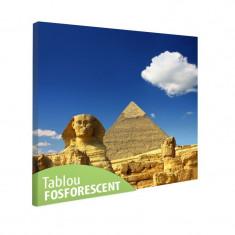 Tablou fosforescent Piramida lui Keops si Sfinxul - Tablou canvas
