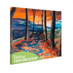 Tablou fosforescent Drum de toamna - Tablou canvas