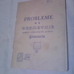 PROBLEME DE GEOMETRIE PENTRU CONCURSURILE SCOLARE GIMNAZIU EVRIKA 1991