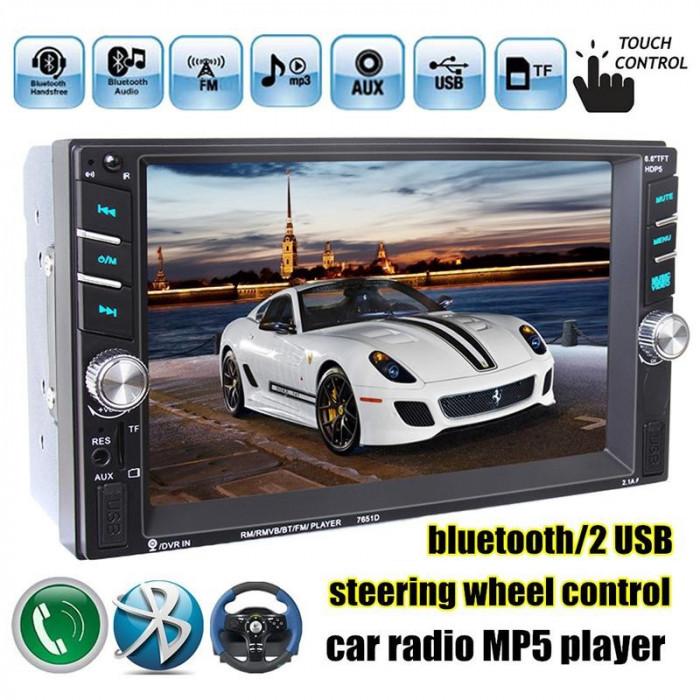 Dvd Player Auto Multimedia Touch screen Mp5,Bluetooth Tv, Usb Compatibil Vw Polo 2000-2013 foto mare