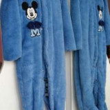 Salopeta copii albastra marca Disney bebe 80-92 Mickey Mouse groasa pufos - NOU, Alta, Albastru, Baieti