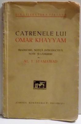 CATRENELE LUI OMAR KHAYYAM- AL.T. STAMATIAD, BUC. 1932 foto