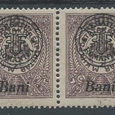 1919 Romania- Emis. Oradea, timbru pentru economii, pereche-MNH - Timbre Romania, Nestampilat
