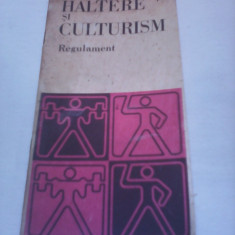 HALTERE SI CULTURISM REGULAMENT