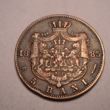 5 bani 1885 Rara