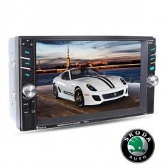 Navigatie /Dvd 2din Dedicat Skoda Player Mp3/Mp5 Multimedia Touch screen Mp5, Bluetooth Tv, Usb.