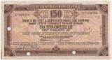 ROMANIA RPR TRAVEL CHECK CEC DE CALATORIE 150 LEI STAMPILAT 1958 BUDAPESTA