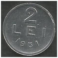 ROMANIA RPR 2 LEI 1951 [1] XF+, livrare in cartonas - Moneda Romania, Aluminiu