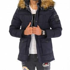Geaca iarna bleumarin - geaca barbati 9390 L3, Marime: S, M, L, XL, XXL, Culoare: Din imagine