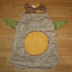 Sac de dormit cu bufnita pentru copii de 4-5-6 luni - Sac de dormit copii, 6-12 luni, Multicolor