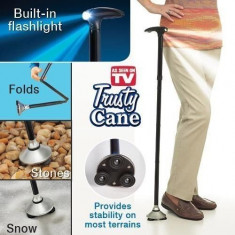 Cane Trusty - baston pliabil cu LED si 4 puncte de contact / ZZD