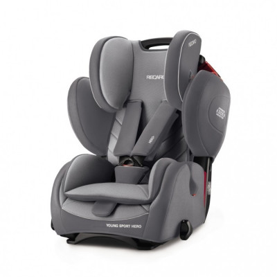 Scaun Auto pentru Copii fara Isofix Young Sport Hero Aluminium Grey foto