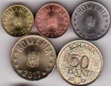 SERIE monede din fisic 2017 1 ban+5+10+50 bani+50 bani comemorativ UE a.UNC/UNC