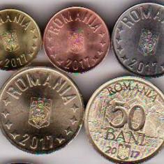 SERIE monede din fisic 2017 1 ban+5+10+50 bani+50 bani comemorativ UE a.UNC/UNC - Moneda Romania