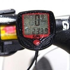 Computer Multifuntional Rezistent la Apa LCD Display Cycling Bike Vitezometru / Odometru cu 16 functii - Accesoriu Bicicleta