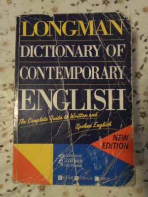 Longman Dictionary Of Contemporary English (putin Uzat) - Colectiv ,405605 foto